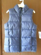 NWT GIRLS OLD NAVY SLEEVELESS NAVY BLUE QUILTED ZIP-UP VEST SIZE XS-5