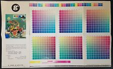 Vintage Printer's Colour Chart / Brochure By Gilby & Sons, c 1970s, 999 Colours!