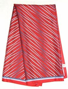 "Gentleman GEOMETRIC Stripes WAVES Design Burgundy Blue RED 33"" Square Silk SCARF"