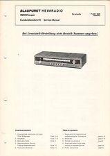 BLAUPUNKT - Granada - 7621300 - Kundendienstschrift Service Manual - B3380