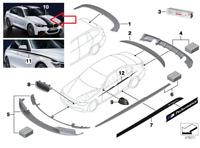 BMW 3 F30 M Performance Superior Strip 2217583 51142217583 2016 New Genuine