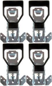Four Front Black Interior Door Handles (Dorman 77098) - Front & Rear Pairs