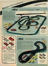 1976 ADVERT 2 PG AFX Penske Toy Raceway Magna Traction Race Car Set G-Plus 50'