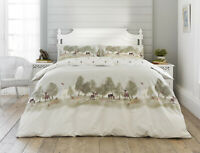 Stunning Printed Wild Design Duvet Cover Set Superking Size Polycotton Natural