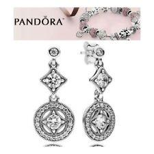 Pandora Silver Vintage Allure Drop Earrings S925 ALE