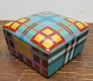 Fabienne Jouvin of Paris red plaid box trinket box jewelry box tozai home