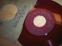 VG+ Mario Lanza Be My Love / I'll Never Love You 45RPM w/ppr slv RED vinyl