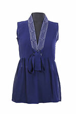 Ex Marks & Spencer new Tea office party casual Summer navy blue evening dress