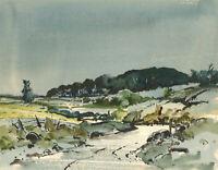 Mid 20th Century Watercolour - Expressionist Landscape