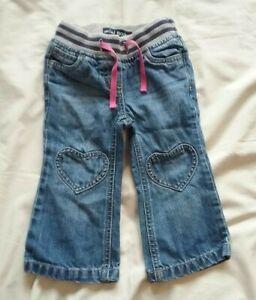 Mini Boden Jeans 2 Years Girls Blue Heart