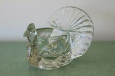 Vintage Avon Glass Turkey Peacock Candle Holder Thanksgiving Autumn Flawless!