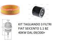 KIT TAGLIANDO 3 FILTRI FIAT SEICENTO 1.1 BZ 40KW DAL 09/200>