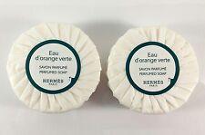 2 HERMES EAU D'ORANGE VERTE SOAP 1.7 oz BARS total 3.5oz + Free Gift!!