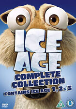 ICE AGE 1-2-3 COMPLETE COLLECTION - DVD - REGION 2 UK