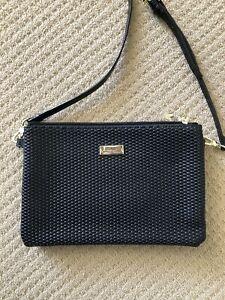 Serenade Black Pebble Crossbody Bag Clutch