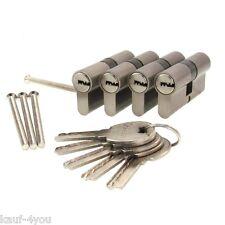 4 x Zylinderschloss 30/30 gleichschliessend 60mm Türschloss +20 Wendeschlüssel