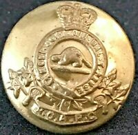 """Royal Canadian Army Pay Corps """"RCAPC"""" Brass Uniform Button 16.6 mm"""
