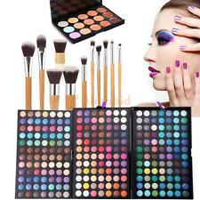 252 Colors Palette Eyeshadow Makeup Eye Blusher Shadow Cheek Face Powder Brushes
