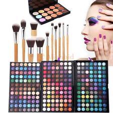 252 Colors Palette Eyeshadow Makeup Eye Blusher Shadow Cheek Face Powder Brushes