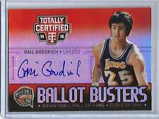Gail Goodrich 14/15 Panini Totally Certified Autograph #5/5