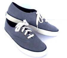 Top Sider Sperry Deck Sneakers Women 8.5 M Gray Canvas Yacht Tennis Shoes Boat