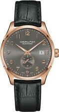 H42575783 Hamilton Maestro Mens Watch Gray dial Black Strap Rose Gold 40mm