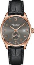 H42575783 Hamilton Maestro Mens Watch Gray dial Black Strap Rose Gold 40mm