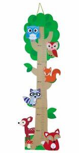 Messlatte Größenmesser Baby Kinder Waldtiere Maßband Skala klappbar 80-155 cm