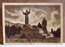 Roma - monumento a S.Francesco d'Assisi [grande, b/n, non viaggiata]