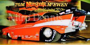 NHRA Tom MONGOOSE McEwen 1:16 MILESTONE Diecast NITRO Funny Car 57 CHEVY Bel Air