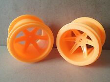 K'NEX large orange wheels 50mm wide 65mm diameter