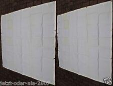 Seitenteile PE Abdeckplane OHNE Fenster für Pavillon 6 Eck  2x 190 x 195 cm