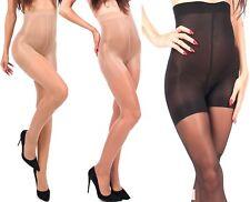 Mieder Strumpfhose 20 Den schwarz beige Bauch weg Effekt Shape Slim Body S-XL