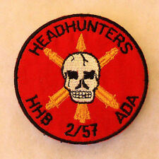 1970/80'S GERMAN EMBROIDERED 2ND OF 57TH ADA-HHB HEADHUNTERS EMB ON TWILL CE