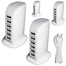 6-Port USB Adapter Ladegerät,30W USB Netzteil|Tisch ladegerät,Smartphone Tablet