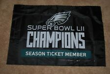 Philadelphia Eagles Commemorative Super Bowl LII 52 Season Ticket Holder Banner