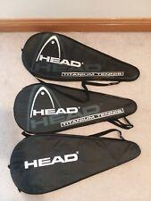 Head Tennis Racquet Black Carry Case Bag Cover Bundle of 3 - Each Holds 1 Racket