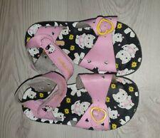 Sketchers Girls Pink Real Leather Sandals - UK 8