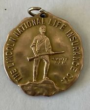 The Lincoln National Life Insurance Co Minute Man Club Medal Dated 1928