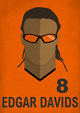 Edgar Davids Minimalist Art Print Holland Netherlands Football Player No.8