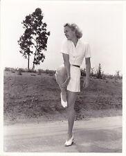 JANE WYMAN Original CANDID Vintage 1941 WELBOURNE Leggy Warner  Bros. Photo