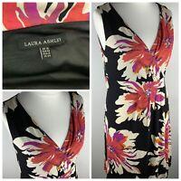 Laura Ashley Sleeveless Strappy V-neck Floral Dress Size 16