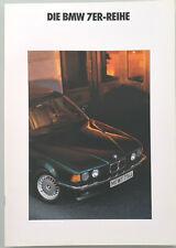 BMW 730i 735i 735iL (E32) - Prospekt Brochure - 1990 - 38 Seiten