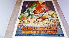 QUAND LES DINOSAURES DOMINAIENT LE MONDE  !  affiche cinema hammer film 1970