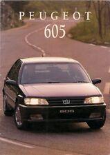Peugeot 605 1994-95 UK Market Sales Brochure SVE SVTi SVdt SRTi SRdt SLi SLdt
