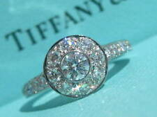 TIFFANY & CO. PLATINUM DIAMOND CIRCLET WEDDING ENGAGEMENT RING PT950 SIZE 5.5