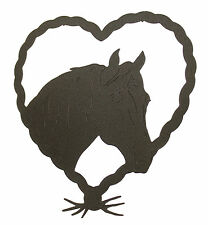 Horse Mare Heart Wall Plaque