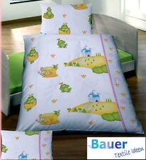 Baby Bettwäsche 100x135 cm Frosch Froschkönig Baumwolle Edellinon