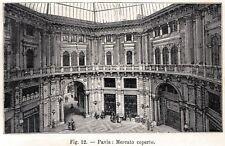 Pavia: il Mercato Coperto. Lombardia. Stampa Antica + Passepartout. 1896