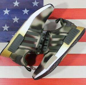 Adidas NMD R1 STAR WARS PRINCESS LEIA Women's Running Camo Green Brown [FW2280]